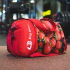 Сумка спортивная на молнии «Клубника», 1 отдел, наружный карман, регулируемый ремень, цвет красный