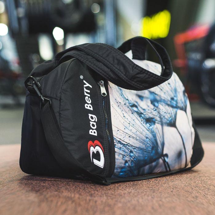 Сумка спортивная, отдел на молнии, наружный карман, регулируемый ремень, цвет чёрный