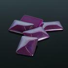 Кабошон стекло, прямоугольник 18*25мм (набор 5шт), цвет фиолетовый