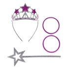 Карнавальный набор «Принцессы», 4 предмета: жезл, ободок, два браслета