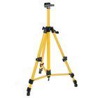 Мольберт телескопический, тренога, металлический, жёлтый, размер 51-153 см