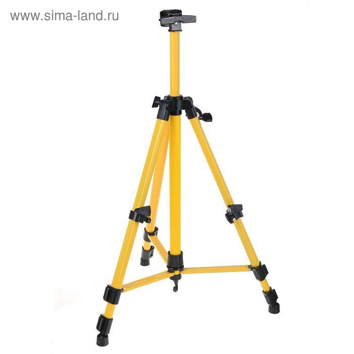 Мольберт телескопический (тренога) металл, жёлтый, размер 51-153 см