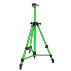 Мольберт телескопический, тренога, металлический, зелёный, размер 51-153 см