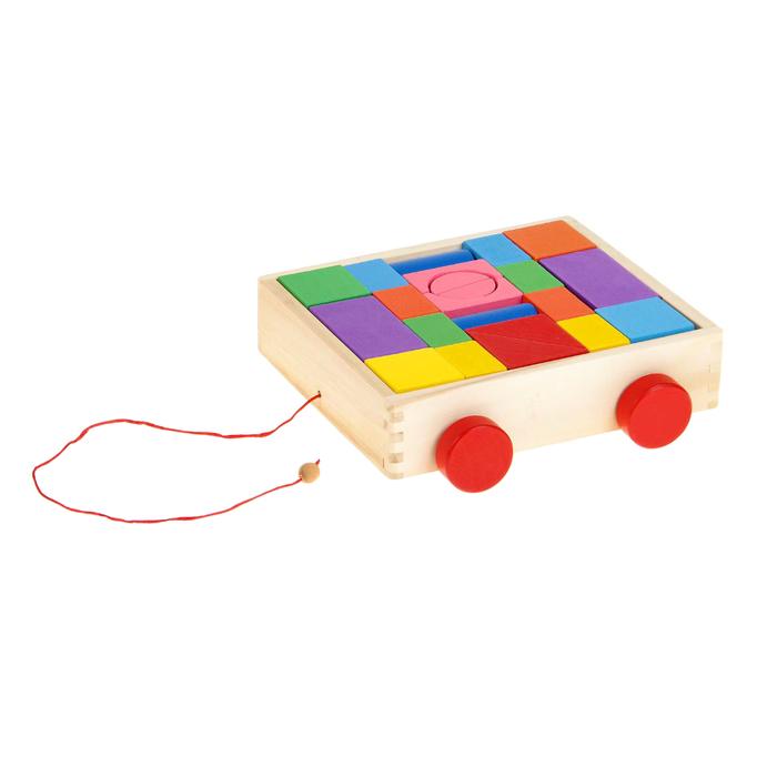 Конструктор в деревянной коробке