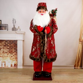 Santa Claus, in patterned coat, English melody