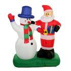 """Надувная фигура """"Дед Мороз и Снеговик"""" 100*140 см"""