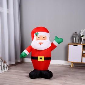 """Надувная фигура """"Дед Мороз"""" машет рукой, 90 см"""