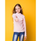 Водолазка для девочки, рост 152 см, цвет розовый