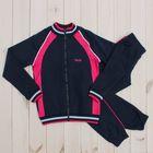 Костюм спортивный для девочки (куртка, брюки), рост 158 см, цвет тёмно-синий