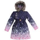 """Пальто для девочки """"Снежа"""", рост 122 см, цвет сиреневый 74-52-16"""