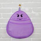 Кармашек подвесной «Смайлик», фиолетовый
