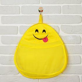 Кармашек подвесной 'Смайлик', жёлтый, карман: 35 × 21 см Ош