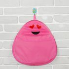 Кармашек подвесной «Смайлик», розовый
