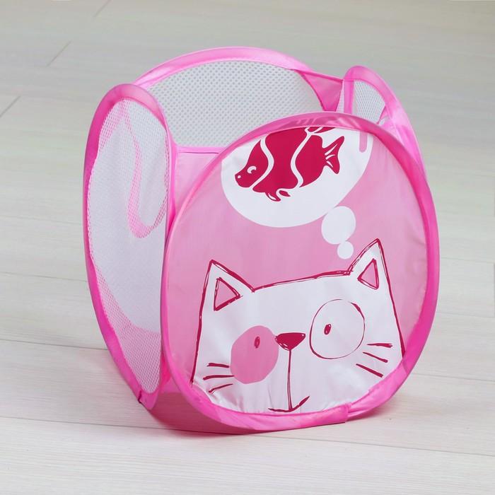 Корзина для игрушек малая «Котик»