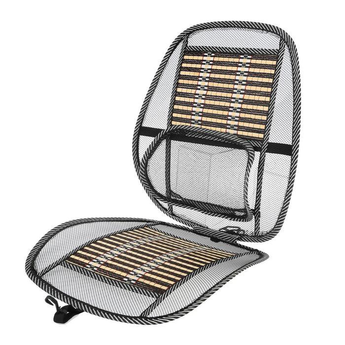 Накидка-массажер на сиденье, с пояничной опорой, бамбуковые вставки