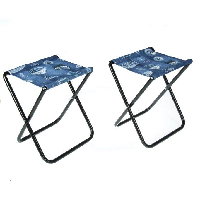 Набор стульев, цвет джинс, 2 шт в сумке, 34 х 29,5 х 37 см, НПС