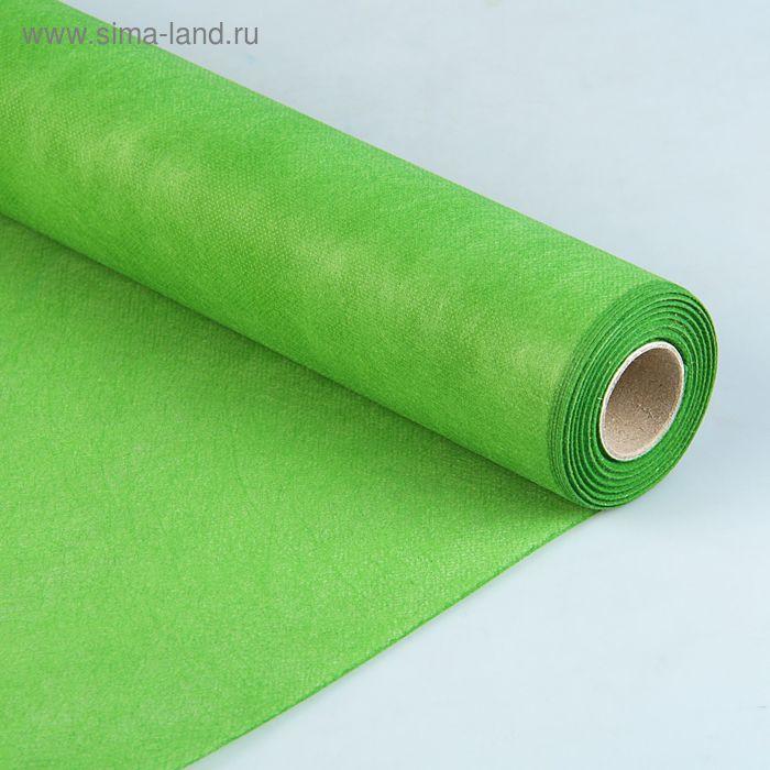 Фетр однотонный травяной, 50 см х 15 м