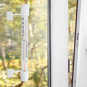 Пластиковый термометр оконный 'Липучка' с картонной шкалой, в картоне (-50 +50), Ош