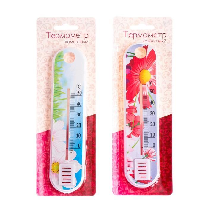 """Пластиковый термометр комнатный """"Цветок"""" в блистере (0 +50),"""