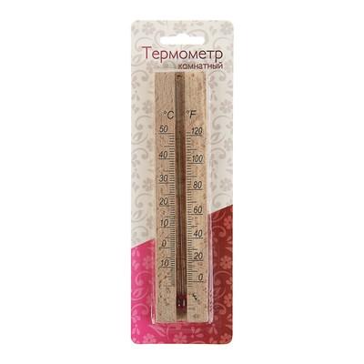 Деревянный термометр комнатный  в блистере (0 +50),