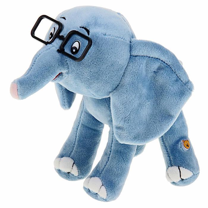 """Мягкая музыкальная игрушка """"38 попугаев: Слонёнок"""", 20 см"""