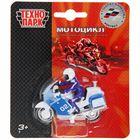 """Мотоцикл """"Полиция"""" 7 см с фигуркой SB-16-02-MO-BLC"""
