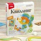 "Квиллинг-панно ""Радужная рыбка"""