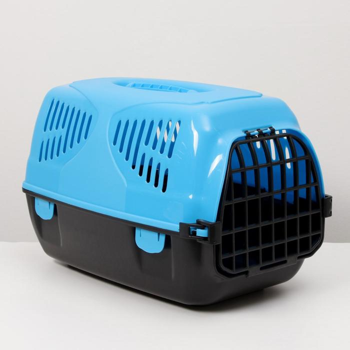 "Переноска для животных ""Сириус"", 33,5 х 31 х 50 см, цвет голубой"