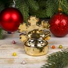 "Подсвечник золото ""Снежинка"" 7,4х7х5,8 см"