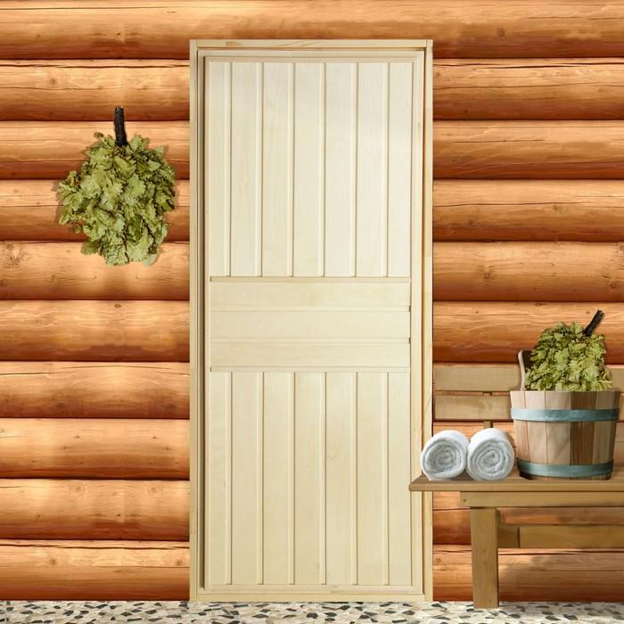 """Дверь для бани """"Вертикаль"""", 160×70см, """"Добропаровъ"""""""