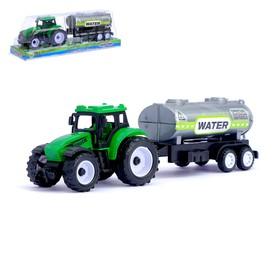 Трактор инерционный «Сельхозтехника», с прицепом, цвета МИКС