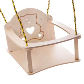 """Качели детские подвесные """"Мишка"""", из дерева"""