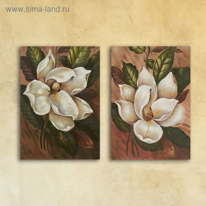 """Модульная картина на стекле """"Цветочная"""", 28×40 см"""