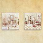 "Модульная картина на стекле ""Ванная комната"", 28×28 см"
