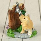 """Souvenir Polyresin """"Doggie in the garden"""" MIX 7,5х6х5,5 cm"""