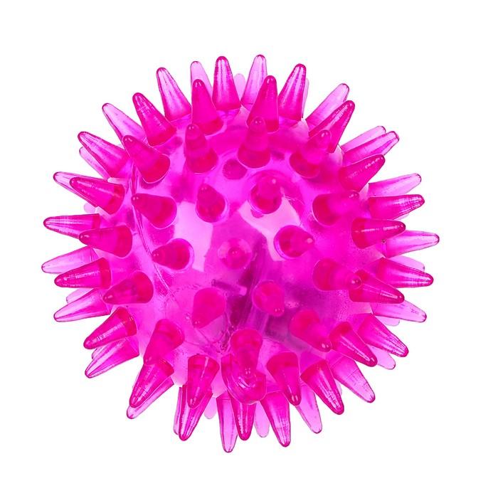 Мяч световой «Ёжик», матовый, цвета МИКС