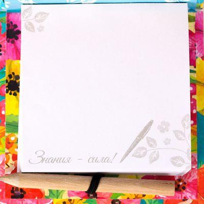 """Футляр для бумаги с карандашом """"Заметки лучшего учителя"""", 100 листов"""