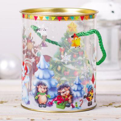 Коробка‒тубус подарочная «Весёлого Нового года», 12 × 15 см