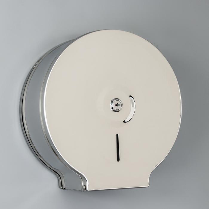 Диспенсер туалетной бумаги, зеркальный блеск, втулка 6,2 см - фото 4648725