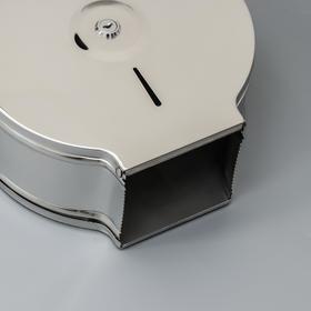 Диспенсер туалетной бумаги, зеркальный блеск, втулка 6,2 см - фото 4648726