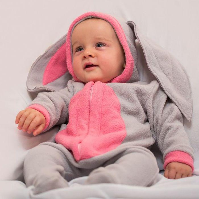 """Карнавальный костюм """"Малышка Зайка"""" серый, комбинезон, 6-9 мес, рост 75 см цвета МИКС"""