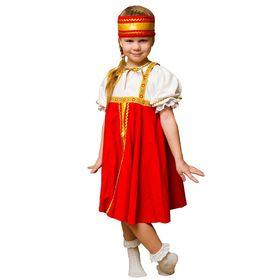 Карнавальный костюм «Хоровод», платье, повязка на голову, 3-5 лет, рост 104-116 см