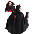 """Карнавальный костюм """"Черт"""", шапка с рогами, маска, плащ, воротник, перчатки, р.170-175"""