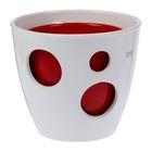 """Горшок """"Виктория"""" 2 горшка: 2 л и 1 л глянец Белый и Красный"""