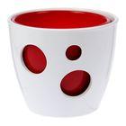 """Горшок """"Виктория"""" 2 горшка: 3 л и 2 л глянец Белый и Красный"""