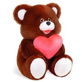 Мягкая игрушка «Медведь» с сердцем, 40 см, МИКС