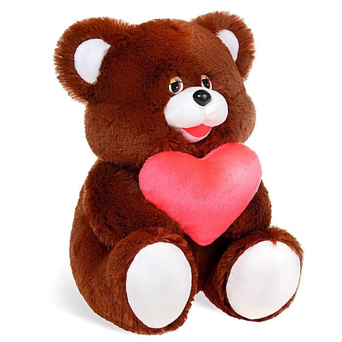 """Мягкая игрушка """"Медведь"""" с сердцем, 40 см, МИКС"""