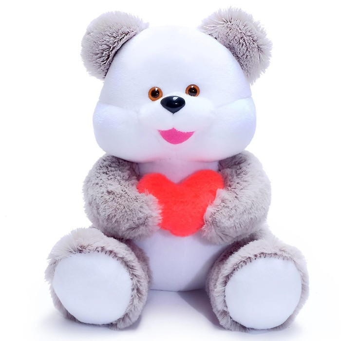 Мягкая игрушка «Медведь», с сердцем, МИКС