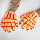 """Карнавальные перчатки """"Рука красная"""", латекс"""