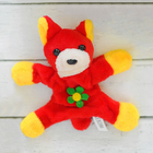 "Soft toy magnet ""Dog"" long ears, flower, MIX color"